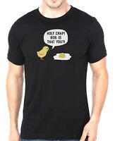 Holy Crap Chick & Egg Mens Funny Comedy T-Shirt