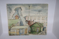 "18""x15"" Original Watercolor Painting Signed ""C. MacArthur"" - CityScape"