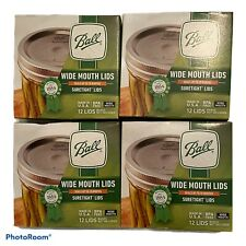 Ball Wide Mouth  canning jar lids 4 Boxes. Total Of 48 Lids New!!