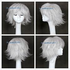 Nagisa Kaoru EVA / DMMD Clear Short Silver White Cosplay Full Wig +a wig cap