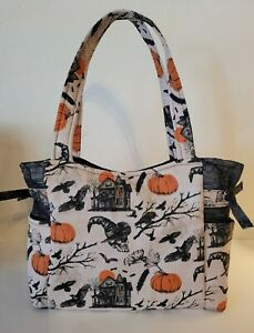 Halloween Haunted House Skulls Pumpkins Handmade Tote/Purse/Handbag