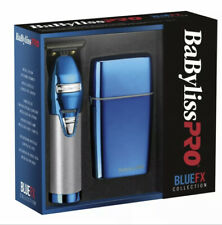BaByliss Pro Blue Chrome FX Collection Outliner & Double Foil Shaver BRAND NEW