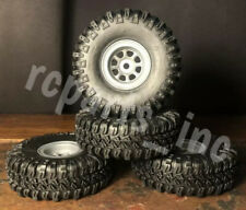 "1.0"" M/T Micro Rock Crawler Tires w/ Plastic 1.0"" Beadlock Wheel - SCX24 - NEW!"