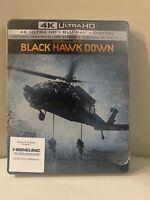 BLACK HAWK DOWN STEELBOOK (4K UHD + Blu-Ray + Digital Copy) Brand New Sealed