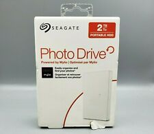 NEW Seagate Portable HDD Backup Or Photo Drive 2TB, White, Powered by Mylio