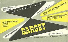 BUVARD Laboratoires SARGET + BORDEAUX + PENICILLINE