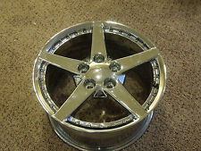 C6 Corvette Chrome Tire Rim 2004 17 X 8.5 J / FA -316 FR / CARF-20