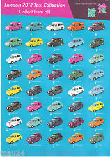 Corgi Destination London 2012 Model Taxi SET OF 29 OUT OF 40 **SPECIAL OFFER**