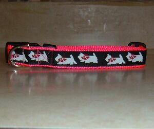 WESTIE COLLAR PINK TRADITIONAL FREE SHIP USA