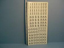 Dollhouse Mini 00002000 ature Water Mount Slide Decals Black Numerals #104