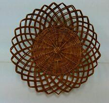 Vintage Woven Rattan Wicker Bread Serving Basket