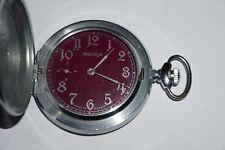 Vintage Soviet Russian Molnija Pocket Watch 18 Jewels USSR WWII 1941-1945