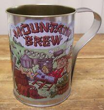 Mountain Brew Large Tin Mug Cup R. Muccio Hillbilly