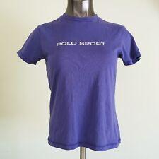 Vintage Women's Polo Sport Ralph Lauren Spellout Purple Graphic T-Shirt Size M