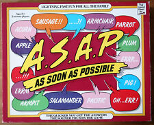 A.S.A.P. As Soon As Possible Rare Vintage Board Game - Lightning Fast Family Fun