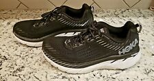 Hoka One One Mens Clifton 5 Black Running Sneakers F27218C Size 10 2E Wide
