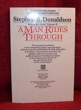 Stephen R. Donaldson A MAN RIDES THROUGH First Edition SCARCE Uncorrected Proof