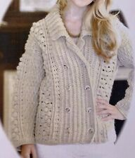 "Ladies Polo Neck Sweater Crochet Pattern Chest 32-38/"" Aran  BR538"