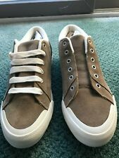 Eddie Bauer  - Suede Leather Low Top Brown Sneaker.  New . Chuck Taylor like