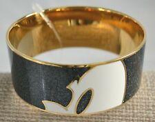 Coach Disney X Mickey Profile Enamel Black/Gold Bangle F86788 NWT MSRP$155