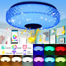 RGB LED Music Ceiling Lamp Dimmable bluetooth APP+Remote Control Kitchen Bedroom