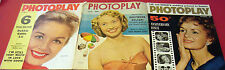 (3) Early PHOTOPLAY Magazines DEBBIE REYNOLDS JANE POWELL 50th Anniversary Issue