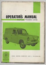 FORD THAMES 5 & 7 CWT. VANS. OPERATOR'S MANUAL. 1961.