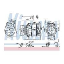 Fits Land Rover Range Rover Sport 4.4 Genuine Nissens A/C Air Con Compressor
