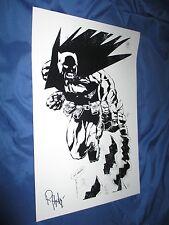 BATMAN Signed Art Print by Inker Rob Hunter ~DC Comics 52/Joe St Pierre Art