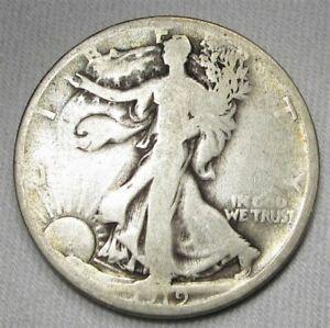 1919-D Silver Walking Liberty Half Dollar Coin AH321