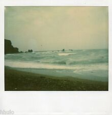 POL607 Polaroid Photo Vintage Original landscape paysage mer sea plage