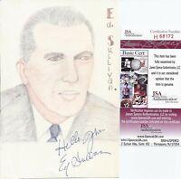 Ed Sullivan Signed Original Artwork photo - JSA