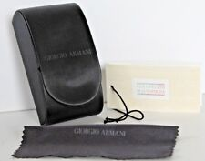 NEW~GIORGIO ARMANI~BLACK Compact FOLDING CASE EYEGLASS Spectacle RARE Vintage