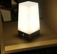 WRalwaysLX 3 Modes Battery Powered Small Table Lamp,Bedside Lamp Wireless PIR