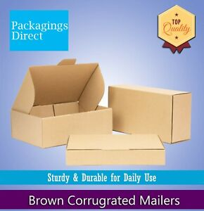 Brown Mailing Box Shipping Carton A4 A5 Small Medium Large Cardboard Mailer