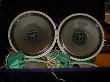 "Pair of Altec Lansing 602-D 602D 15"" Duplex Speakers Minty with N-3000-E XOvers"