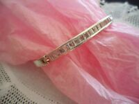 VINTAGE JEWELRY STERLING SILVER BANGLE BRACELET SAPPHIRES  ANTIQUE JEWELLERY
