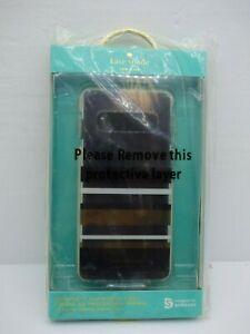 Kate Spade  Defensive Hardshell Case for Samsung Galaxy S10 Park Stripe Black