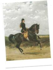 PC YOUNG 15-YEAR-OLD QUEEN of the Netherlands riding horse SIDESADDLE