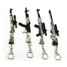 Camouflage Gun Rifle Keychain Keyring Sniper Mini Model Toy Key Fob Bag Pendant