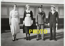 PHOTOGRAPHIE   PAQUEBOT   NORMANDIE SERVICE  OFFICIER   17x13  PHOTO OCEAN LINER
