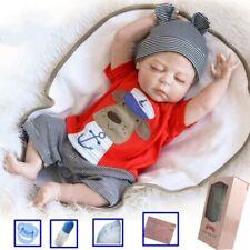 "20"" Reborn Dolls Boy Doll Full Body Vinyl Silicone Newborn Baby Bath Gift Toy UK"