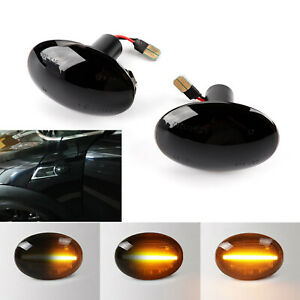 2X LED Dynamic Side Repeater Light Indicator For MINI Cooper R55 R56 R57 R58 R59
