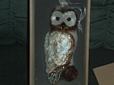 Limited Edition Numbered Hand Blown Owl Ornament Made in Poland 2009 Bnib