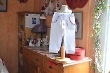 pantalon  neuf 2 ans petit bateaux blanc noeud liberty v chapeaux