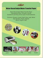 Water Transfer Paper Clear A4 Size 10 Sheets Inkjet Water Slide Decal Paper