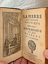 Leather Bound French Book on Nostradamus Oracles 1691 Edition