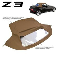 New BMW Z3 1996-2002 Convertible Soft Top Replacement & Plastic Window Tan Twill