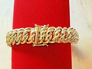 bracelet maille americaine or 18 carats 750 °/°° , NEUF, 18,27 grs