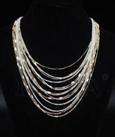 Luxus Statement Halskette IKITA Paris Kette Collier Vergoldet /Weiß Kollier